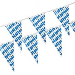 Wimpelkette, Folie 4 m -Bayrisch Blau- wetterfest