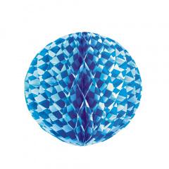 Wabenball Ø 30 cm -Bayrisch Blau- schwer entflammbar