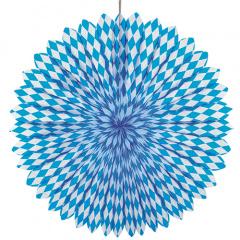 Dekofächer Ø 75 cm -Bayrisch Blau- schwer entflammbar