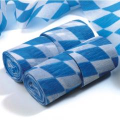 4 Rollen Krepp-Bänder 10 m x 5 cm -Bayrisch Blau- schwer entflammbar