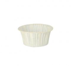 20 Muffins-Backförmchen Ø 5 cm 3,5 cm weiss