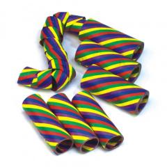 3 Luftschlangen 4 m -Rainbow-