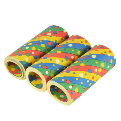 3 Riesenluftschlangen 15 m -Confetti- schwer entflammbar