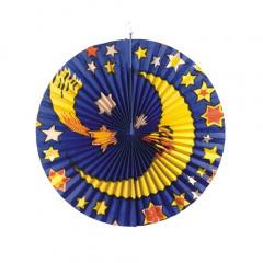 Lampion Ø 42 cm -Mond & Sterne- schwer entflammbar