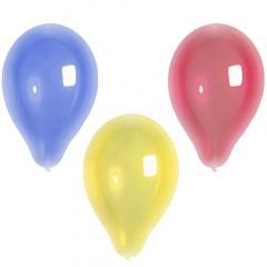10 Luftballons Ø 25 cm farbig sortiert -Crystal-