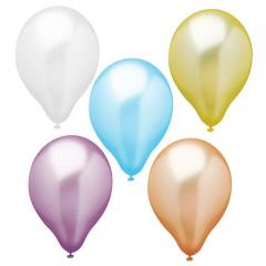 10 Luftballons Ø 30 cm farbig sortiert -Pearly-