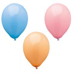 10 Luftballons Ø 25 cm farbig sortiert -Pastel-