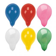 100 Luftballons rund Ø 28 cm farbig sortiert