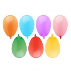 100 Luftballons Ø 7,5 cm farbig sortiert -Wasserbomben-