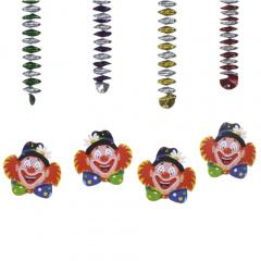 4 Rotor-Spiralen Ø 5 cm 80 cm -Clowngesicht-