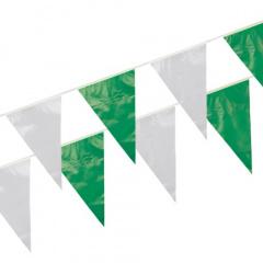 Wimpelkette, Folie 10 m grün/weiss wetterfest