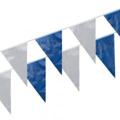 Wimpelkette, Folie 10 m blau/weiss wetterfest