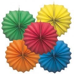 3 Lampions Ø 21 cm farbig sortiert schwer entflammbar