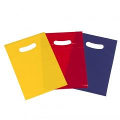 10 Partytüten 28 cm x 19 cm farbig sortiert blau, gelb und rot