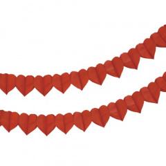 Motiv-Girlande 4 m rot -Herz-