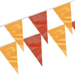 Wimpelkette, Folie 4 m -rot, gelb, rot- wetterfest