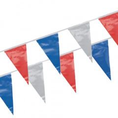 Wimpelkette, Folie 4 m -blau, weiß, rot- wetterfest