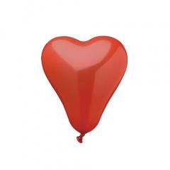 50 Luftballons Ø 16,5 cm rot -Herz-