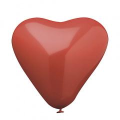10 Luftballons Ø 26 cm rot -Herz-