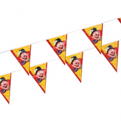 Wimpelkette, Folie 4 m -Clowngesicht- wetterfest