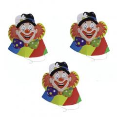 5 Hütchen -Clowngesicht-
