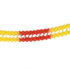 Großraumgirlande, Papier Ø 16 cm 10 m rot/gelb/rot schwer entflammbar