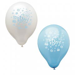 12 Luftballons Ø 25 cm -It is a boy-