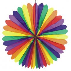 Dekofächer Ø 120 cm -Rainbow- schwer entflammbar