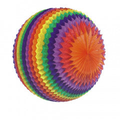 Streifenball Ø 50 cm -Rainbow- schwer entflammbar