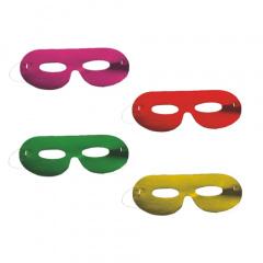 6 Gesichtsmasken farbig sortiert -Metallic-