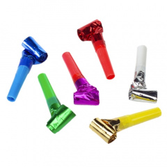 6 Partyrüssel farbig sortiert -Metallic-
