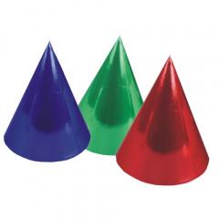 6 Hütchen farbig sortiert -Metallic-