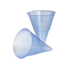 1000 Spitzbecher, PP 115 ml Ø 7,03 cm 9,5 cm blau Blue Cone