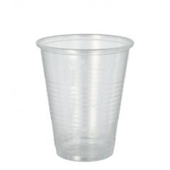 20 Trinkbecher, PP 0,3 l Ø 9,5 cm 11,1 cm transparent mit Schaumrand