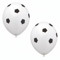 8 Luftballons Ø 29 cm -Fußball- weiß/schwarz