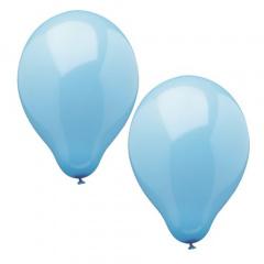 10 Luftballons Ø 25 cm hellblau