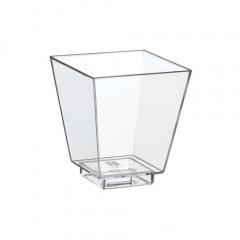 50 Fingerfood - Schalen eckig 5 cm x 4,5 cm x 4,5 cm glasklar Kunststoff
