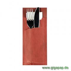 520 Bestecktaschen 20 cm x 8,5 cm bordeaux inklusive weißer Serviette 33x33 cm