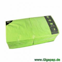250 Servietten, 3-lagig 1/4-Falz 33 cm x 33 cm apfelgrün