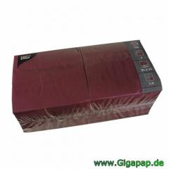 250 Servietten, 3-lagig 1/4-Falz 33 cm x 33 cm bordeaux