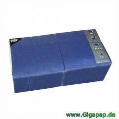 1000 Servietten, 3-lagig 1/4-Falz 33 cm x 33 cm dunkelblau - Karton