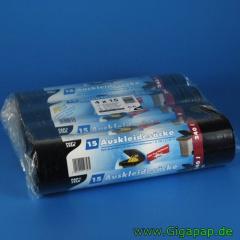 240 Auskleidesäcke für Mülltonnen 240 l 135 cm x 120 cm schwarz- Karton