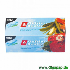 540 Gefrierbeutel, LLDPE 6 l 46 cm x 30 cm blau in Faltschachtel- Karton