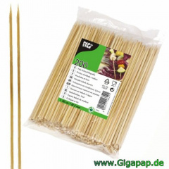 2000 Schaschlikspieße / Fleischspieße, Holz Ø 5 mm 40 cm- Karton