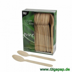 1000 Löffel, Holz -pure- 15,7 cm- Karton