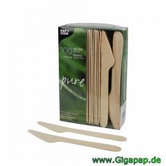 1000 Messer, Holz -pure- 16,5 cm- Karton