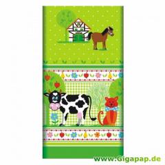 Tischdecke, Papier 120 cm x 180 cm -Little Farm- lackiert