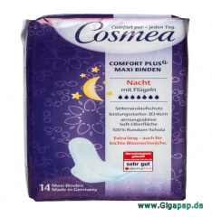 Cosmea® Damenbinden Comfort Binden Super Plus 14 Stück