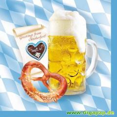 20 Servietten, 3-lagig 1/4-Falz 33 cm x 33 cm -Bavaria-