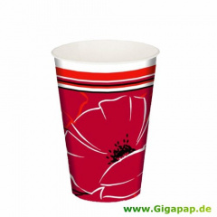 10 Trinkbecher, Pappe 0,2 l Ø 7 cm 9,7 cm -Red Passion-